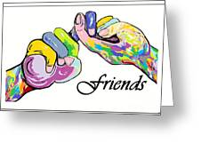 FRIENDS . . . An American Sign Language Painting Greeting Card by Eloise Schneider