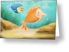 Friendship Fish Greeting Card by Hank Nunes