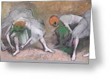Frieze Of Dancers Greeting Card by Edgar Degas