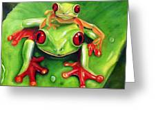 Frog Rodeo Greeting Card by Darlene Green