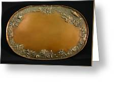 From The Foothills Bronze Tray Greeting Card by Dawn Senior-Trask