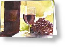 From Vine To Glass Greeting Card by William Beaupre