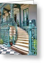 Front Steps To John Rutledge Home Greeting Card by Steven Ainsworth