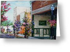Front Street Greeting Card by Virginia Potter