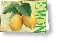 Froyo Lemon Greeting Card by Debbie DeWitt