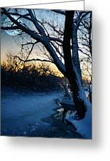 Frozen River Greeting Card by  Jaroslaw Grudzinski