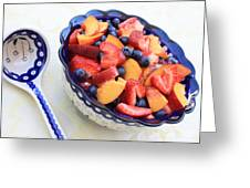 Fruit Salad With Spoon Greeting Card by Carol Groenen