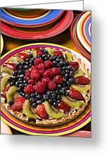 Fruit Tart Pie Greeting Card by Garry Gay