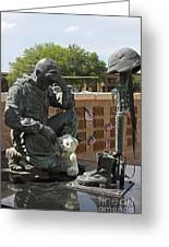 Ft. Hood War Memorial Greeting Card by Linda Phelps