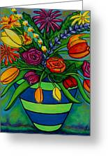 Funky Town Bouquet Greeting Card by Lisa  Lorenz
