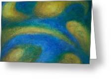 Galaxia Greeting Card by Anita Burgermeister