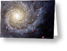 Galaxy Swirl Greeting Card by The  Vault - Jennifer Rondinelli Reilly