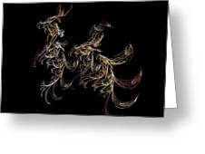 Galloping Away Greeting Card by Sherry Holder Hunt