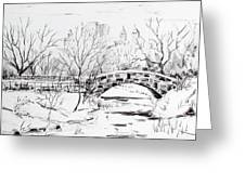 Gapstow With Snow Greeting Card by Chris Coyne