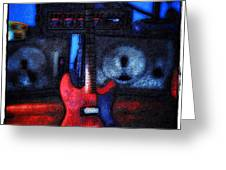 Garage Rock Greeting Card by Bill Cannon