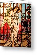 Garden Angel Greeting Card by Kristin Elmquist