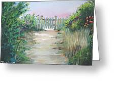 Garden Fence Greeting Card by Paul Walsh