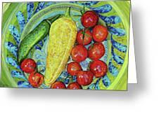 Garden Harvest Greeting Card by Shawna Rowe
