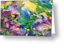 Garden Hues A Collage In The Colors Of A Country Garden Greeting Card by Phil Albone