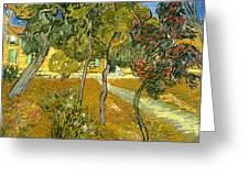 Garden of Saint Paul's Hospital Greeting Card by Vincent van Gogh