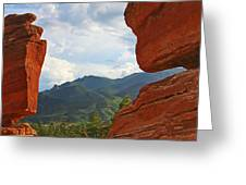Garden Of The Gods - Colorado Springs Greeting Card by Christine Till