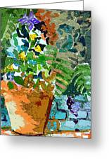 Garden Party Greeting Card by Mindy Newman