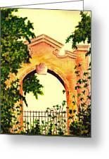 Garden Scene Greeting Card by Michael Vigliotti