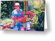 Gardener Greeting Card by Estela Robles