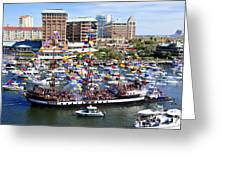 Gasparilla And Harbor Island Florida Greeting Card by David Lee Thompson