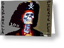 Gasparilla Pirate Fest Poster Greeting Card by David Lee Thompson