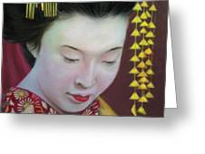 Geisha Greeting Card by Mamie Greenfield