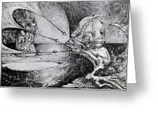 General Peckerwood In Purgatory Greeting Card by Otto Rapp