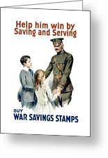 General Pershing Buy War Saving Stamps Greeting Card by War Is Hell Store