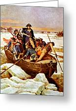 General Washington Crossing The Delaware River Greeting Card by War Is Hell Store