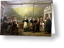 General Washington Resigning His Commission Greeting Card by War Is Hell Store