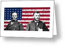 Generals Sherman And Grant  Greeting Card by War Is Hell Store