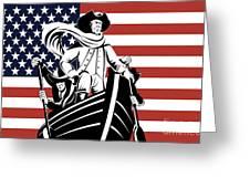 George Washington Greeting Card by Aloysius Patrimonio