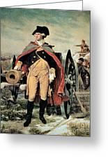 George Washington At Dorchester Heights Greeting Card by Emanuel Gottlieb Leutze