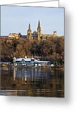 Georgetown University Waterfront  Greeting Card by Brendan Reals