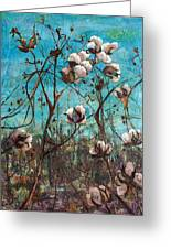 Georgia Cotton Greeting Card by Jami Childers
