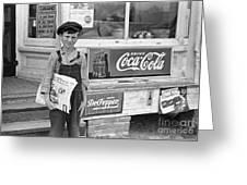 Georgia: Newsboy, 1938 Greeting Card by Granger