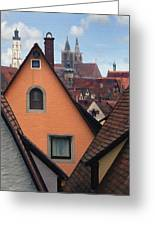 German Rooftops Greeting Card by Sharon Foster