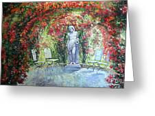Germany Baden-baden Rosengarten 02 Greeting Card by Yuriy  Shevchuk