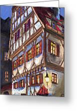 Germany Ulm Old Street Greeting Card by Yuriy  Shevchuk