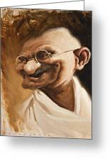 Ghandi Greeting Card by Court Jones