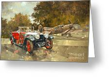 Ghost And Spitfire  Greeting Card by Peter Miller