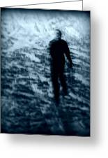 Ghost In The Snow Greeting Card by Perry Webster
