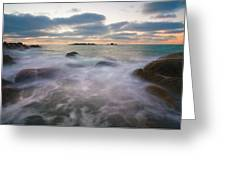 Ghost Tides Greeting Card by Mike  Dawson