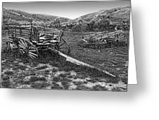 GHOST WAGONS of BANNACK MONTANA Greeting Card by Daniel Hagerman