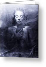 Ghost Woman Greeting Card by Scott Sawyer
